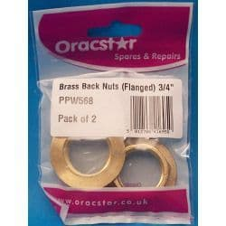 Oracstar Brass Back Nuts - Flanged 3/4